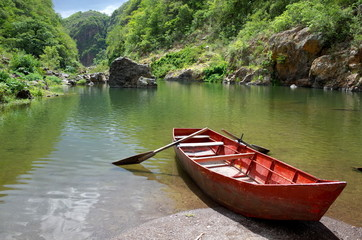 Somoto Canyon in the north of Nicaragua, a popular tourist destination for outdoor activities such as swimming, hiking and cliff jumping
