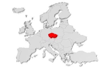 3D map - Czech Republic