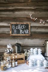 coffee bar wedding decoration