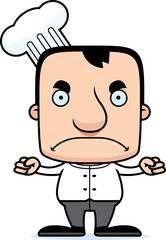 Cartoon Angry Chef Man