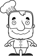 Cartoon Smiling Chef Man