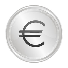 Euro - Verchromter Button