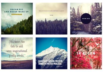 Six Social Media Posts