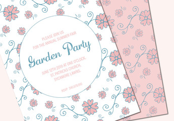 Garden Party Invitation 1