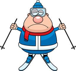 Sad Cartoon Skier