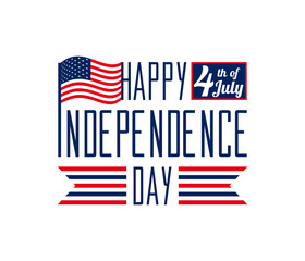 Happy Independence Day - July 4th USA - Memorial Day - Flag Day - Patriotic