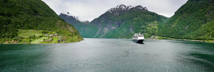 cruise ship at Geirangerfjord