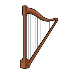 Isolated harp icon