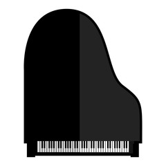 Isolated piano icon
