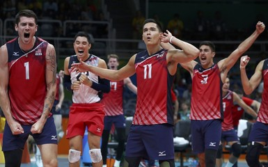 Volleyball - Men's Semifinals Italy v USA