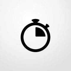 stopwatch running icon illustration isolated vector sign symbol