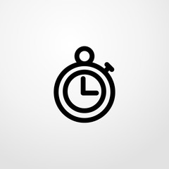 timer icon illustration isolated vector sign symbol