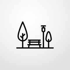 park icon illustration isolated vector sign symbol