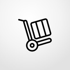 trolley icon illustration isolated vector sign symbol