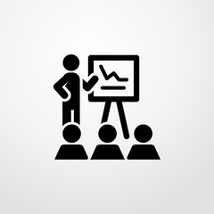 presentation icon illustration isolated vector sign symbol