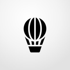 hot air balloon icon illustration isolated vector sign symbol