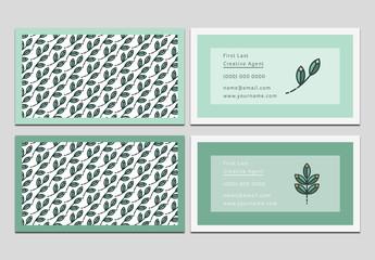 Vine and Leaf Business Card Set 1