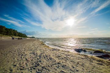 Abendliche Strandszene
