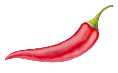 Canvas Prints Hot chili peppers Red hot chili pepper isolated on white background