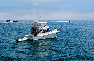 Fishing boat mooring off Southern California Coast