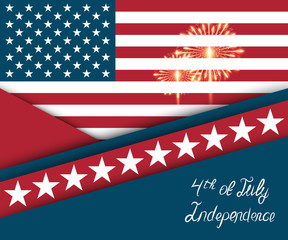 Fourth of July. Independence day greeting card