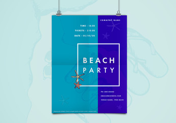 Starfish Beach Party Poster Layout 1