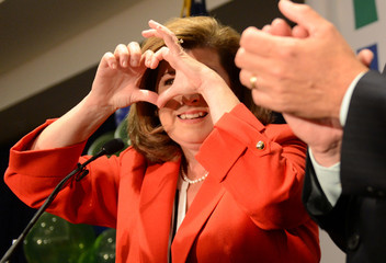 Republican candidate for Georgia's 6th Congressional District Karen Handel speaks during her election night party at an Atlanta hotel