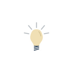 Flat Icon Idea Element. Vector Illustration Of Flat Icon Concept Isolated On Clean Background. Can Be Used As Idea, Concept And Light Symbols.