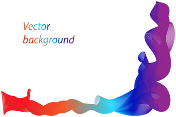 Abstract background with motion waves, curve colorful rainbow lines, vector
