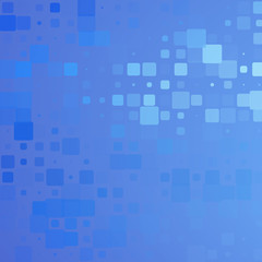 Pale and dark blue glowing rounded tiles background