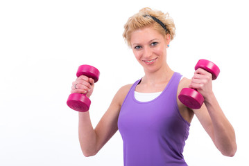 workout mit hanteln