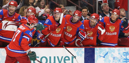 Hockey Men's - Russia Beats Czech 4-2- Vancouver 2010