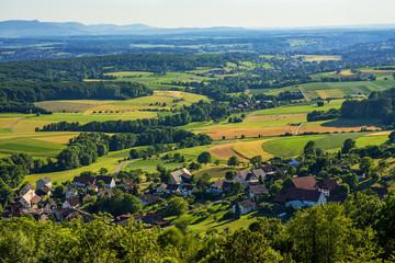 Panoramablick zur Schwäbischen Alb