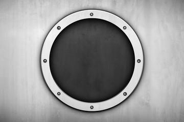 3d round metal background