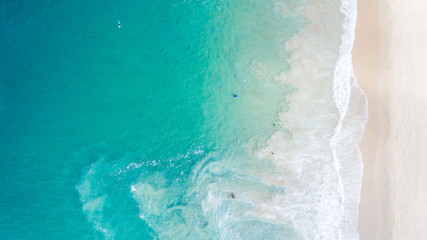 Aerial View of Beautiful Crystal Cove, Orange County
