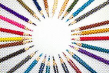 Pictures of beautiful colored pencils.