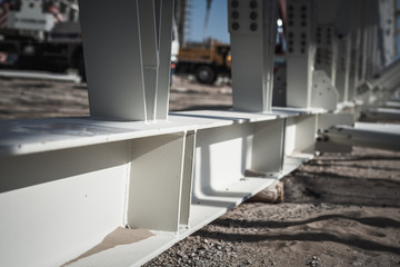Steel truss bolted joints
