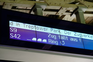 Train departure timetable