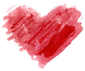 watercolor grunge red heart