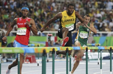 Athletics - Men's 400m Hurdles Semifinals