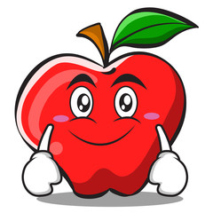 Smile apple cartoon character design