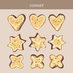Collection of cake figured cookies