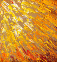 Abstract sun rays. Oil painting