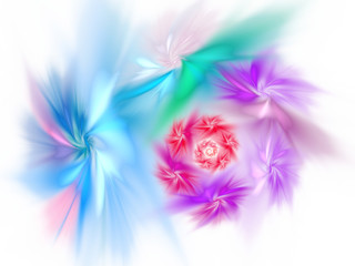 Photo Stands Floral woman Abstract colorful fractal spiral pattern
