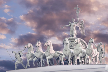 Chariot of Glory on the arch of the General Staff in St. Petersburg