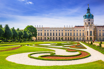 The park and gardens of Charlottenburg in Berlin, Germany