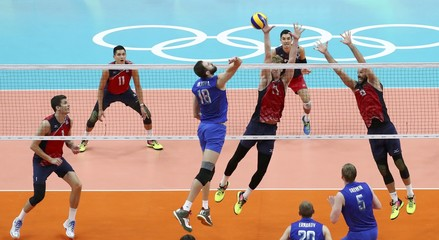 Volleyball - Men's Bronze Medal Match USA v Russia