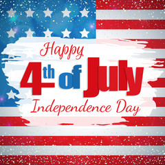 Happy 4th of July, Independence Day greeting card. Happy July Fourth. Vector