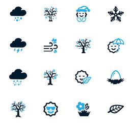 Seasons icons set