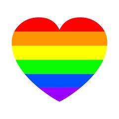 Gay pride heart. Gay pride concept – stock vector